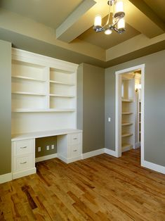 Built In Desk in Thomas's room.  It can be converted into entertainment center later on for home resale if need be.