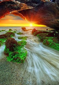 Amazing Photography-The Bali Cave by Agoes Antara