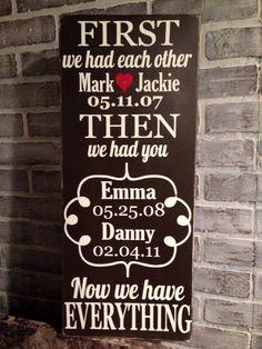 Super cute family sign idea