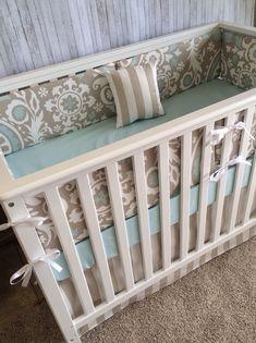 Baby bedding crib bedding crib set Taupe by BeautifulBebeDesigns, $275.00