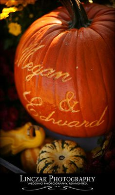 names carved into pumpkin!