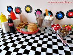 Retro Diner Birthday Party Ideas #KidsParties