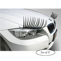 Set of 2 Carlashes to make your car look more feminine.