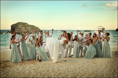 beach theme look for groomsmen/bridesmaids