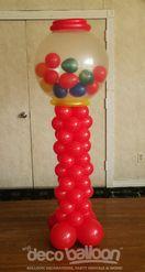 Bubblegum balloon tower bubble gum balloon sculpture for Balloon decoration machine
