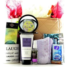 Send your best wishes with thoughtful get well gift baskets from CareGifting. Help your recipient have a speedy recovery with our unique get well soon gift ideas. This Help With Healing Get Well Soon Gift arrives in a Reusable canvas Tote filled with an abundance of comfort items for your friend, co-worker or loved one.