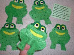 PATTIES CLASSROOM: 5 Little Speckled Frogs