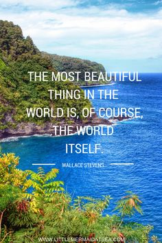 """""""The most beautiful thing in the world is, of course, the world itself."""" 