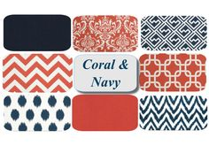 New Obsession-Navy And Coral!