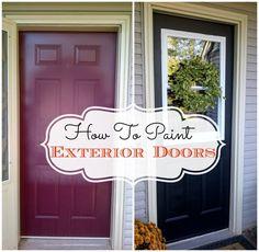 how to paint exterior doors, paints, painted exterior doors, decor fun