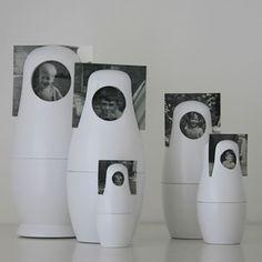 Babushka doll photo frames