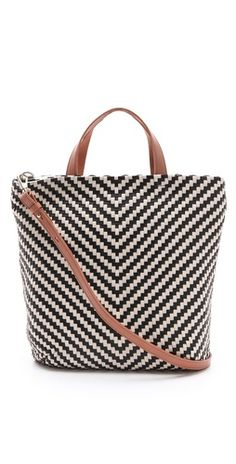 black and white graphic tote