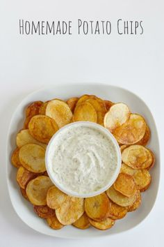 Frying Up Homemade Potato Chips and Dill Dip