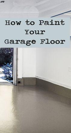 How to Paint Your Garage Floor- or basement