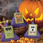 Halloween ornaments to cross stitch