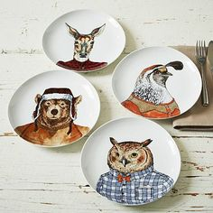 Dapper Animal Plates