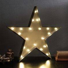 Apothecary 20-in. Star LED Marquee Sign Decor