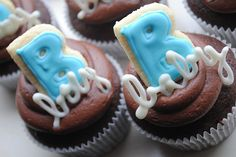 Chocolate Baby boy.. Baby Shower Cupcakes