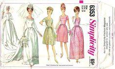 1960s wedding dress pattern - Simplicity 6353