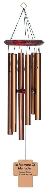 Chimesofyourlife fa-cross-27-bronze Father Holy Cross Memorial Wind Chime, 27-Inch, Bronze #WindChimes #Bronze #Chimesofyourlife