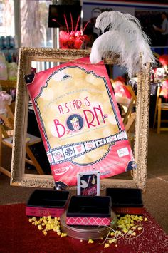 what a cute movie-themed baby shower idea