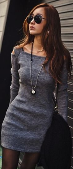 Fall outfit dress with a nice thick belt and leggings. Finish off with boots and voila!