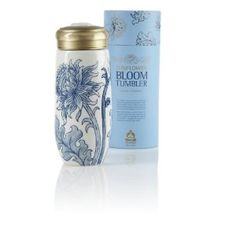 Teavana Blue & White Bloom Ceramic Tea Tumbler...I seriously want this travel tea tumbler!