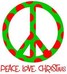 Peace. Love. Christmas.