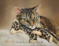 Tabby Cat with Toy Fine Art Print by ArtByJulene on Etsy, $15.00