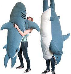 Om nom nom. Shark sleeping bag.