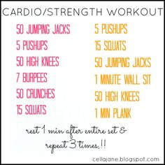 No Gym? No Problem. At Home Cardio/Strength Workout