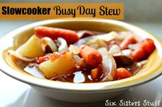 Slow Cooker Busy Day Stew fall soups, crock pots, healthy dinners, crockpot, taco seasoning, healthy dinner recipes, main dishes, slow cooker, six sisters stuff