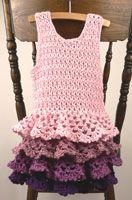 dress patterns, little girls, crochet ruffl, dress tutorials, kids clothes, crochet dresses, ruffl dress, crochet patterns, little girl dresses