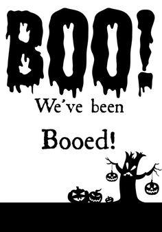 You've been Booed Printable | Halloween| TodaysCreativeBlog.net