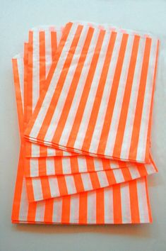 Set of 50  Traditional Sweet Shop Orange Stripe by InTheClear, $9.90