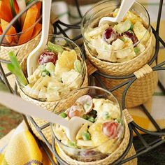 Curried Chicken Salad-mandarin oranges & grapes cool down this spicy salad.