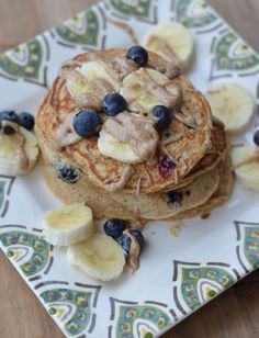 Blueberry Banana Whole Wheat Pancakes