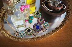 Feminine vanity tray.