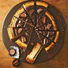 Chocolate and peanut butter are an unbeatable combination in this Chocolate-Peanut Butter Cheesecake. More dark chocolate desserts: http://www.bhg.com/recipes/desserts/chocolate/dark-chocolate-dessert-recipes/?socsrc=bhgpin062513cheesecake=1