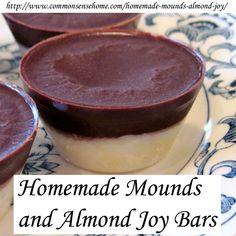 Homemade Mounds Bars and Almond Joy Bars