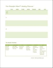 The Peaceful Mom Weekly Planner