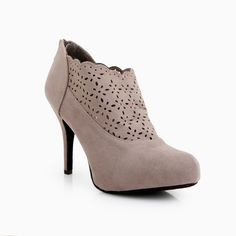 Cut Out Scalloped Ankle Booties