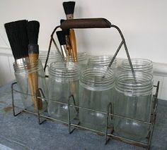 vintage artist brushes