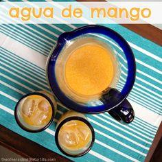 Mexican agua fresca de #mango #recipe