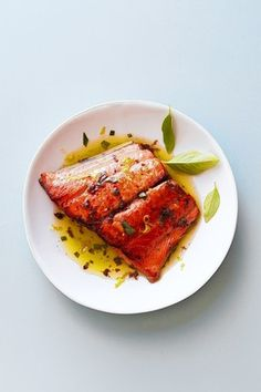 Salmon with Basil Tapenade by Dorie Greenspan via WSJ: #Salmon #Basil #Dorie_Greenspan #WSJ