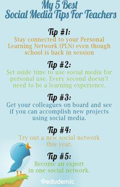 5 Social Media tips for Teachers