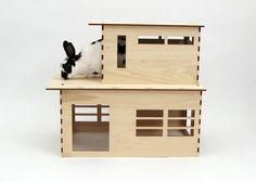 The Modernist rabbit play house by Habifab on Etsy