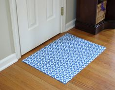 How To Make A Custom Rug Out of Fabric - In My Own Style