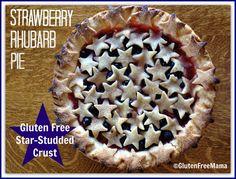 Gluten free blueberry strawberry rhubarb pie