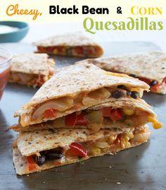 Southwestern Breakfast Quesadilla Recipe with Eggs, Black Beans ...